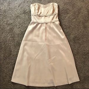 WHBM strapless dress in Champagne gold  🍾